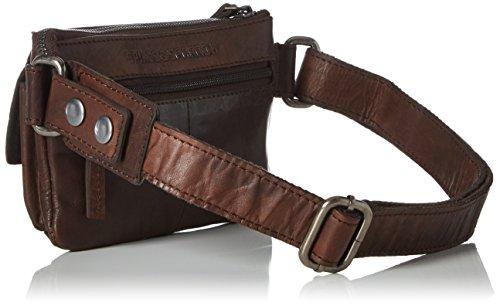 Spikes & Sparrow - Waist Bag, Borse a tracolla Unisex - Adulto Marrone (Dark Brown)