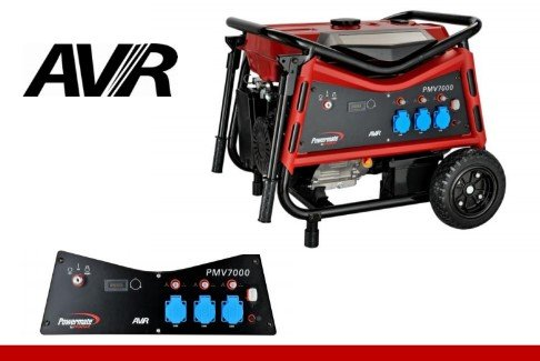 PMV 7000 E-START Stromerzeuger / Generator, 230V, AVR, 6100 W (Powermate Generator)