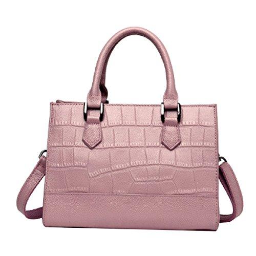 Donne Fahsion Pu Borse In Pelle Borse A Tracolla Borsa In Tote Top Per La Signora Pink
