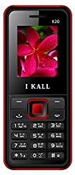 I KALL K20 1.8 Inch Display Dual Sim Mobile With Leather Back- Red