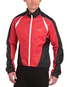Gore Bike Wear Men's Contest 2.0 AS Windstopper Active Shell Jacket - Red/Black, Small