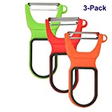 buluship 3pcs Kartoffelschäler Fruit and Vegetable Peeler with 3 Quick Peeling