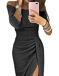 Aleumdr Mujer Vestido de Noche Falda Elegante para Fiesta Vestido de Moda Size S-XXL