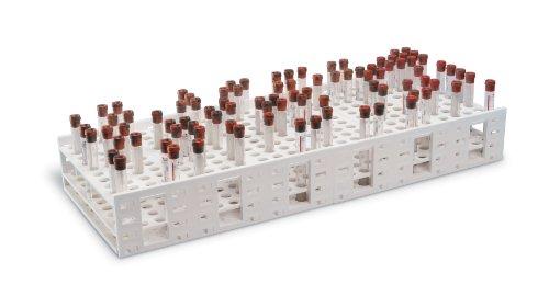 Heathrow Scientific HD120114 Mega Rack Gefäßständer für 16 mm Röhrchen, Polypropylen, 240 Plätze, 521 mm Länge x 260 mm Breite x 89 mm Höhe , Weiß