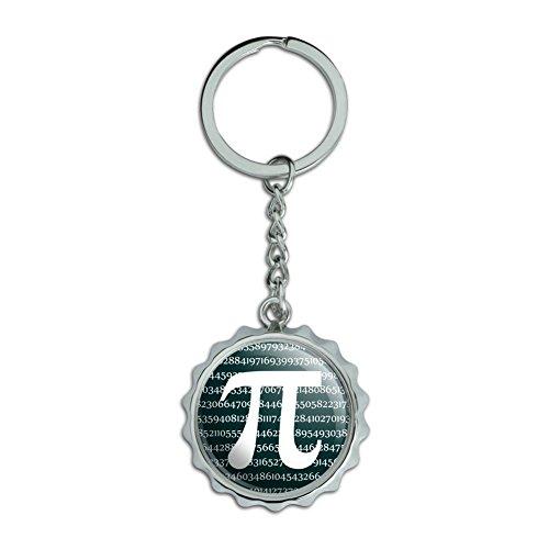 Mathe-cap (Pi Mathe Geek Nerd 3.14verchromtem Metall Pop Cap Flaschenöffner Schlüsselanhänger Ring)
