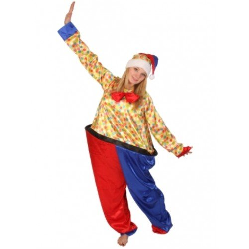 Clown Kostüme Hoop (Fat Clown 1 piece Hoop suit with)