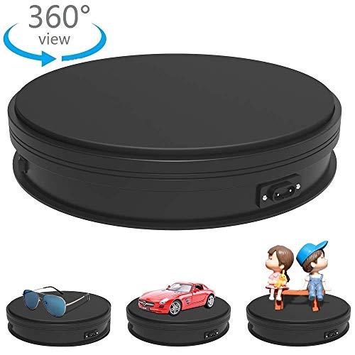 Yuanj Table tournante rotative électrique Professional pour Photographie, capacité 25KG Platform rotative Automatique idéale pour Les Images à 360°, l'affichage du Produit ou Le gâteau