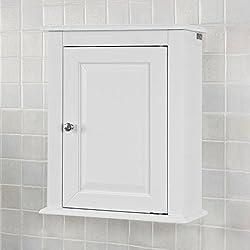 SoBuy® FRG203-W Meuble Haut de Salle de Bain - 1 Porte Placard Commode Meuble de Rangement Mural Armoire Suspendue