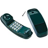 Hermic Teléfono Amarillo para Niños Parte Teléfono de plástico Torres de Juegos de jardín Mundo Cerrojo Berger, Verde