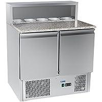 Royal Catering - RCKT-90/70-G - Bajomostrador refrigerado para pizza - 90x70 cm- 300 l - 250 watt - Envío Gratuito