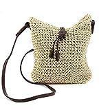 Hrph Fashion Woven Shoulder Bags Straw Summer Women Weave Crossbody Beach Travel Handbag
