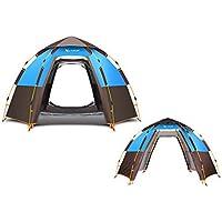 ZWJ-JJ Completamente automático camping al aire libre Tienda de campaña, 5-8 Personas, Estructura de doble capa, 3 segundos Velocidad abierto hay necesidad de construir, a prueba de agua Protector sol