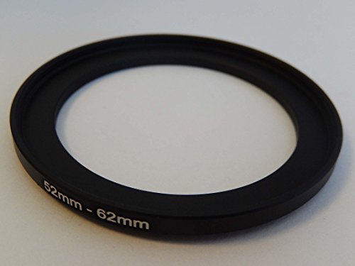 vhbw Step UP Filter-Adapter 52mm-62mm schwarz für Kamera Nikon 1-Mount 32 mm F1.2 Mount Hood 62 Mm