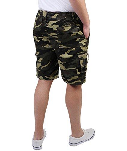 Herren Cargo Bermuda Shorts Einfarbig Gemustert Baumwolle M L XL XXL XXXL Khaki (7952)