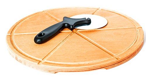Tagliere per pizza, ecologico, in legno, 32x 32x 1,2cm