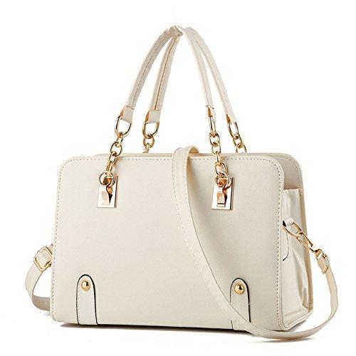 Mefly Tutti-Match Borsa Moda Crossbody Bag Air Bag Blu Brillante white