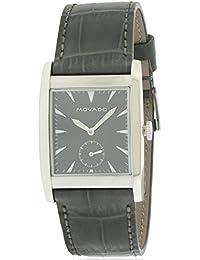 Movado Men's Heritage Black Leather Band Steel Case Swiss Quartz Watch 3650048