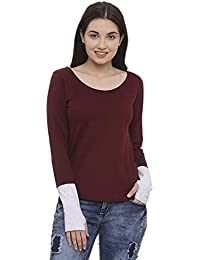 The Dry State Woman's Cotton Thumbhole Full Sleeves T-shirt