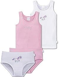 ca8c547713 Leokids / Schiesser Schiesser Mädchen - Großes 4 Teiliges Unterwäsche Set  Unterhemd und Slip Aus der
