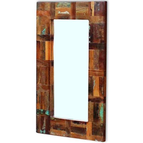 vidaXL Espejo de Madera Reciclada 80x50 cm Baño Habitación Pasillo