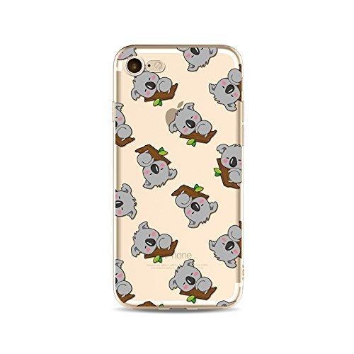 Coque iPhone 7 Housse étui-Case Transparent Liquid Crystal en TPU Silicone Clair,Protection Ultra Mince Premium,Coque Prime pour iPhone 7-Koala-style 13 11