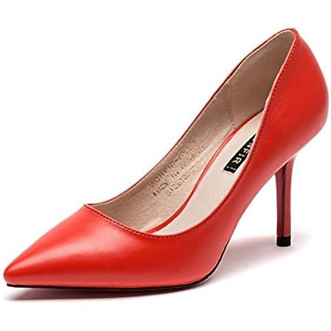 Damen Mode Stil High Heels Slip on Spitze Geschlossene Zehen Einfache Klassische Abendkleid Pendler Stilettos Sommer Pumps Sandalen