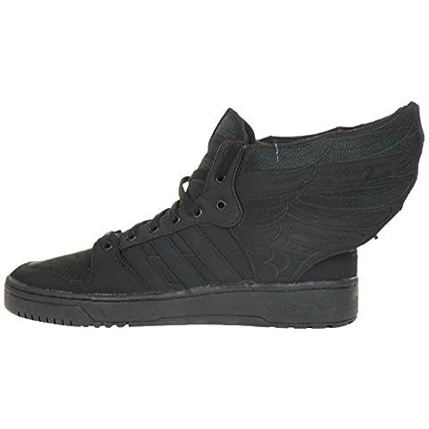Adidas Originals JS Wings 2.0 Black Flag Jeremy Scott Sneaker Schuh Schuhe schwarz D65206, Schuhgröße:EU 45 1/3