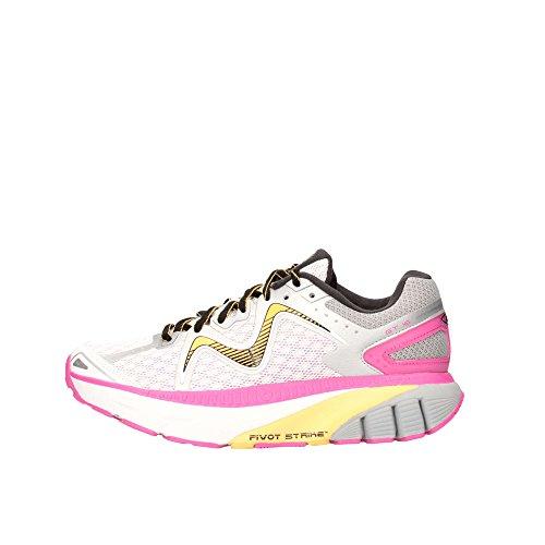 MBT Gt 16 W, Chaussures de Running Femme, Fuchsia, 37 EU Multicolore (Blanc / Fuchsia / Orange)