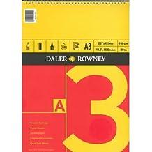 Daler Rowney - Cuaderno de pintura (espiral, tamaño A3, 25 hojas, acuarela y otras técnicas)