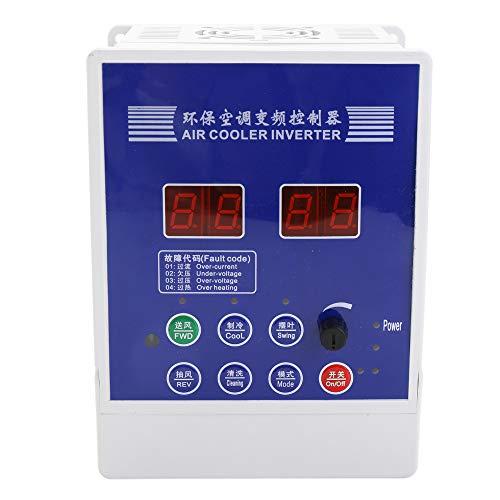 Festnight Umweltfreundliche Luftkühler Wechselrichter Frequenzumrichter AC220V Variabler Motor Zuggebläse Klimaanlage Drehzahlregler Mit Fernbedienung -