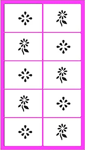 'Paint/Airbrush/Nail Art Fire Adhesive Stencils: NPT 004 Decoration + Flower