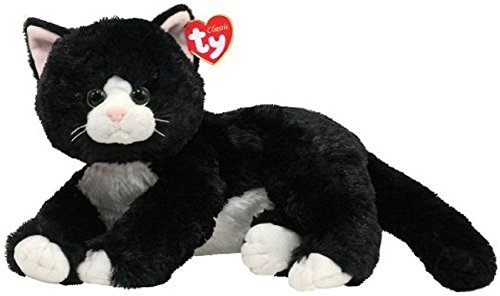 Ty 10037 - Gato de peluche en color negro Shadow [importado de Alemania] - 33 cm