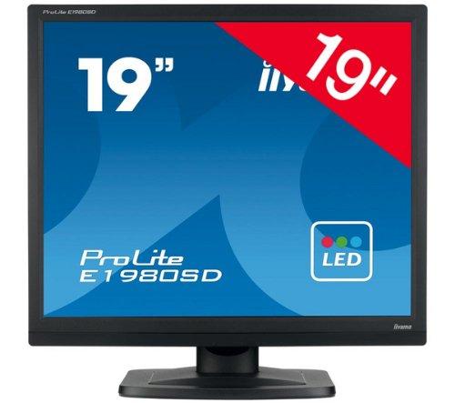 iiyama E1980SD-B1 – 19″ E1980SD-B1 LED/TFT Monitor – 19″ Black LED/TFT Monitor 1280 x 1024 1 x DVI Connection x 1 VGA Connection