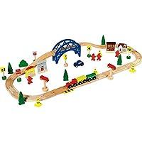 Chad Valley 60 Piece Set Tren de madera