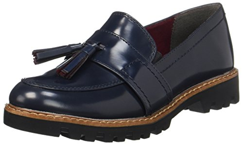 Tamaris Damen 24304 Slipper, Blau (Navy Brush), 39 EU (Mokassin Loafer Schuhe)