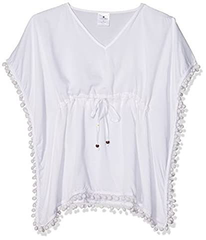 Snapper Rock Mädchen Batwing Tunika Sommerkleid für Strand oder Pool Bademode 2016 Kollektion, Weiß, 11-12 jahre,