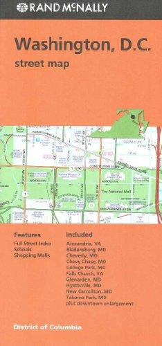 Folded Map Washington Streets DC (Washington Dc Street Map)