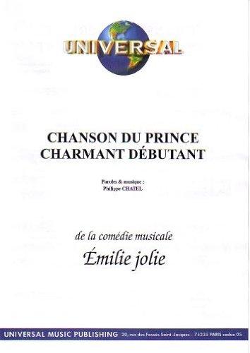 CHANSON DU PRINCE CHARMANT DÉBUTANT (partition)