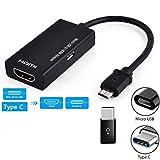 Ocamo Tipo C y Micro USB Macho a HDMI Cable de Adaptador Hembra para teléfono móvil Tablet TV Productos electronicos