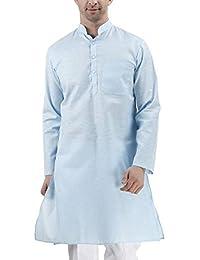 Royal Kurta Men's Khadi Linen Casual long Kurta