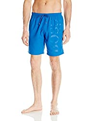 Hugo Boss BOSS Mens Orca Solid Swim Trunk, Deep Blue, Small