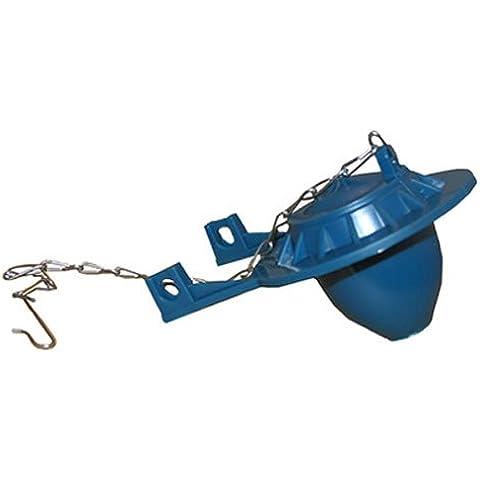 LASCO 04–1585trampa para inodoro con azul resistente a los agentes químicos, se ajusta a los puestos de plástico válvula de descarga por LASCO