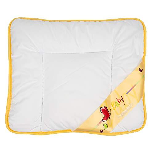 Traumschloss Baby Flach Kopfkissen Weiß 35 x 40 cm