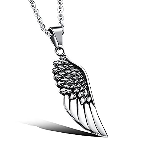 OPK Jewellery Ancient Silver Stainless Steel Angel