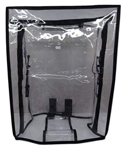 Baggiz PVC Waterproof Transparent Luggage Trolley Protective Cover (24 inch)