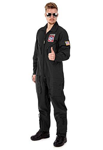 airforce-piloten-kostum-top-gun-schwarz-l