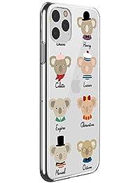 Suhctup Funda Compatible para iPhone 12 MAX,Carcasa Transparente Dibujos Animal Suave Silicona TPU Gel Bumper Ultra Pulgada Antigolpes Crystal Clear Protector Piel Case Cover,Pereza 8