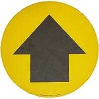 Beaverswood Floor Graghic segno attenzione Pedonale Route, colore: Giallo, dimensioni: 430mm diametro