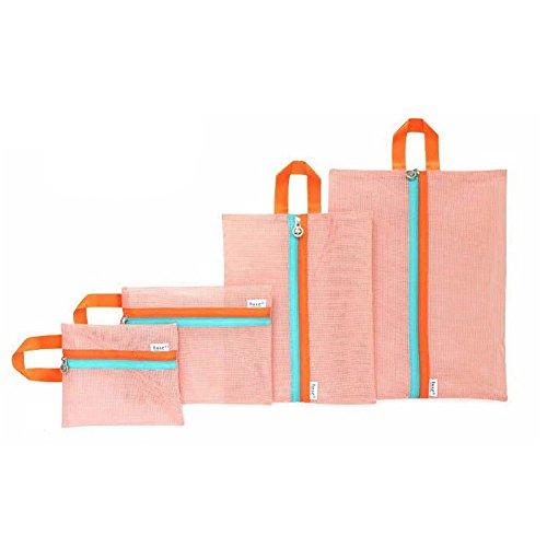 Qearly - Portatrajes de viaje rosa rosa