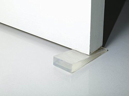 Km Set Of 4 Small Non-Slip Clear Wedge Door Stoppers...